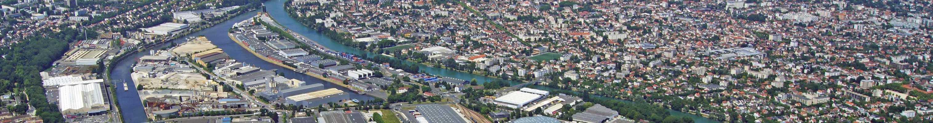 Val-de-Marne département vue du ciel
