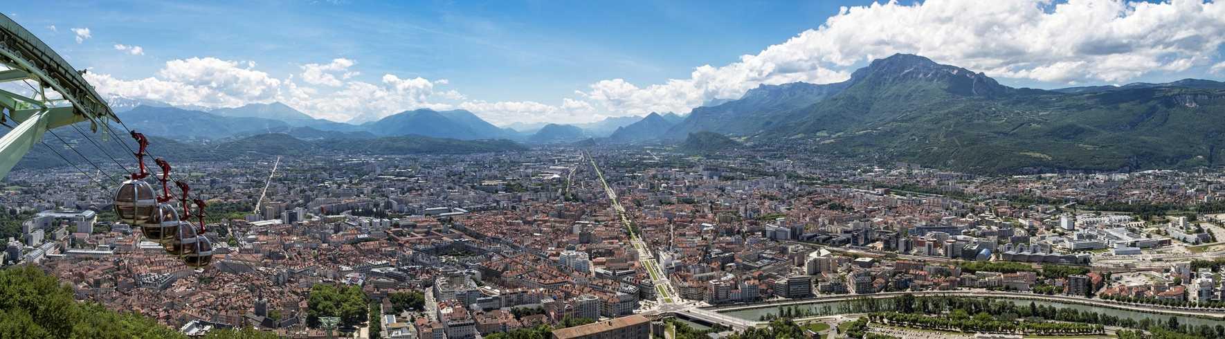 Grenoble vue de haut
