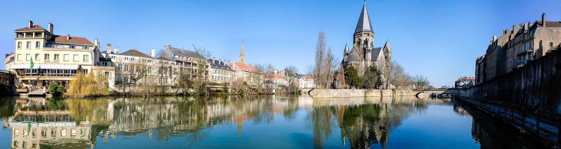 Vue sur la Moselle à Metz