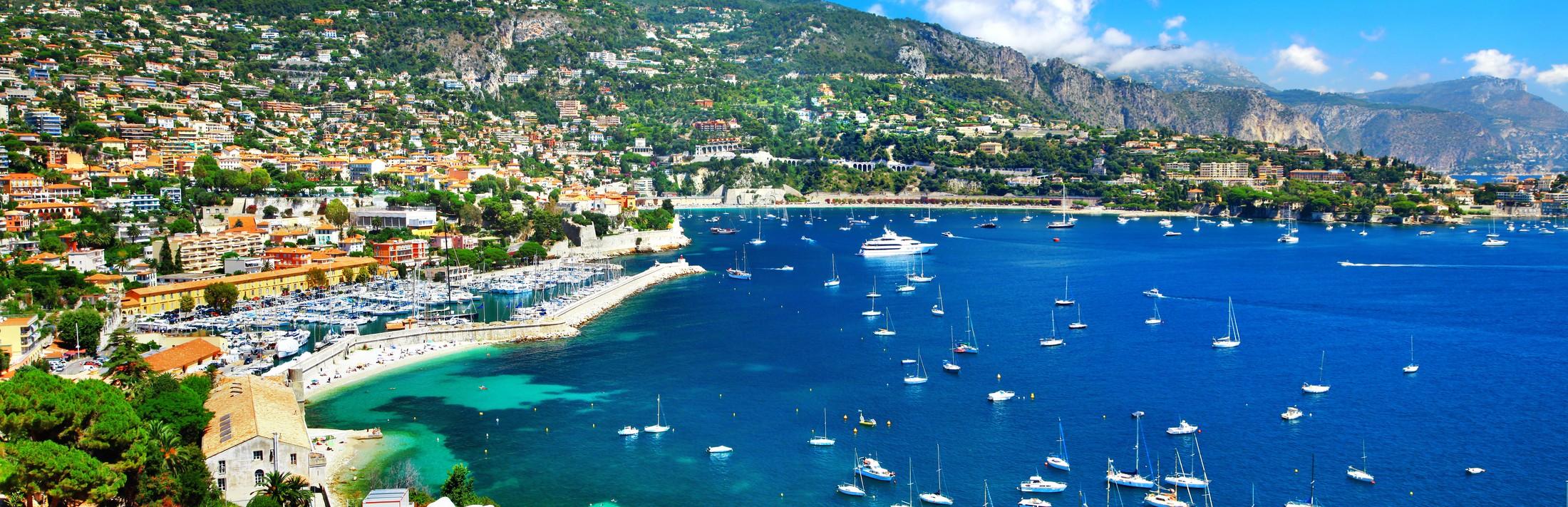 Vue du ciel sur la baie de Nice