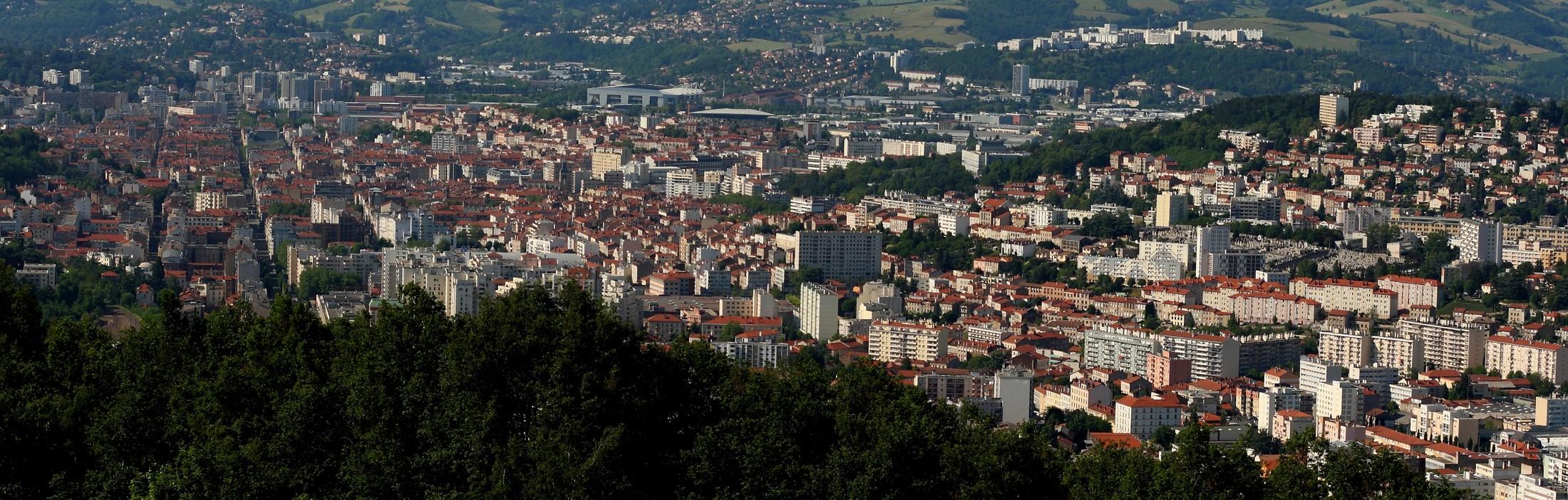 Saint Etienne vue du haut