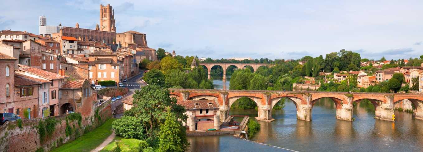 Vue de Toulouse avec la Garonne