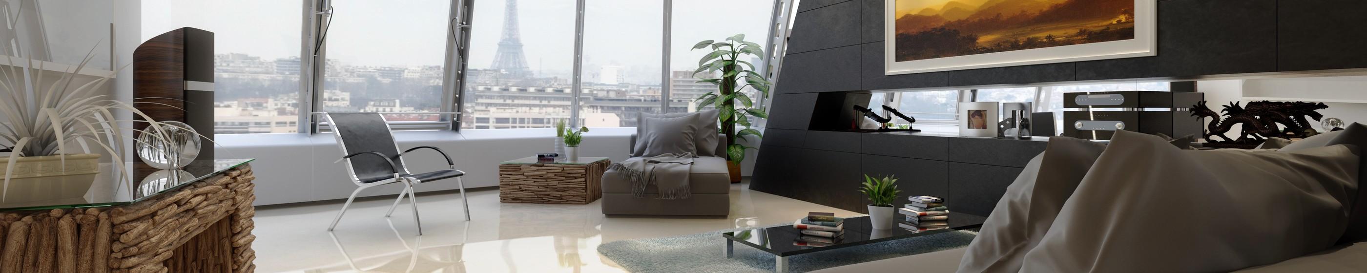 chambre d'hôtel avec vue sur Paris