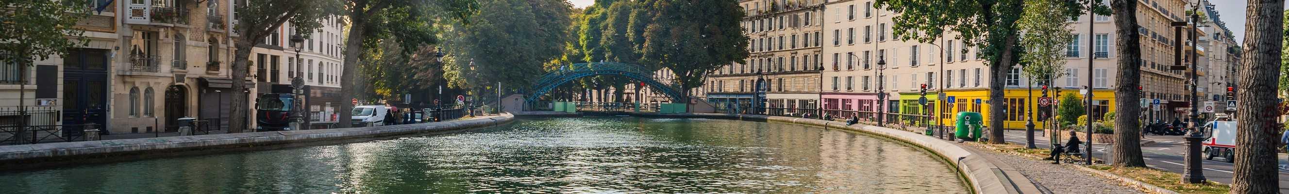 Vue sur le Canal Saint Martin à Paris