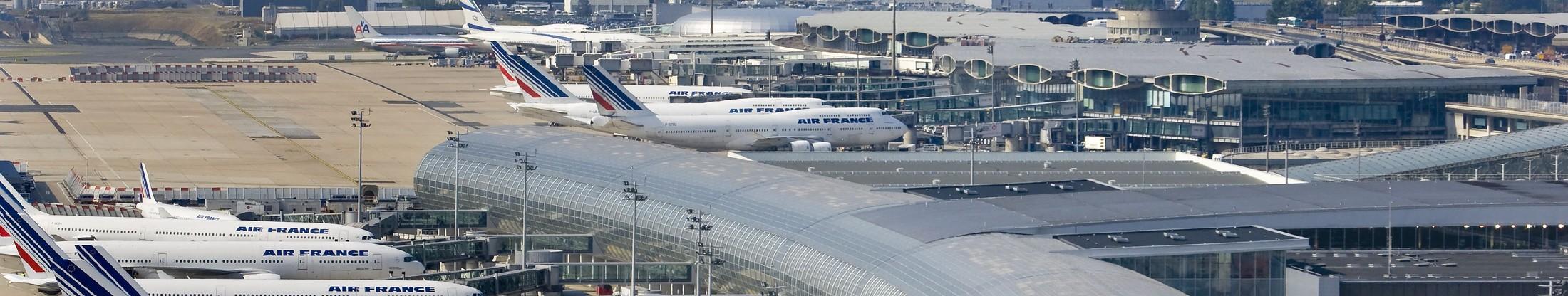 Aéroport Roissy-Charles-de-Gaulle vu de haut