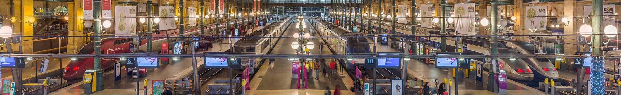 Vue intérieure de la Gare du Nord