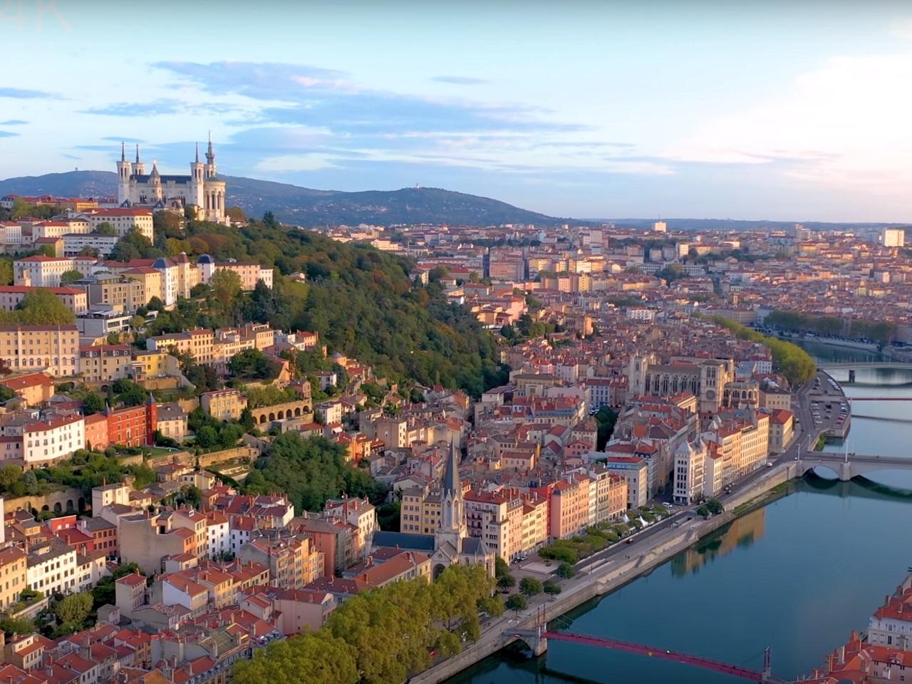 Vue de Lyon pendant Hotel Séminaire