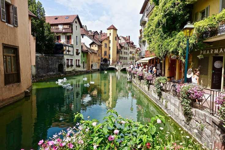 Vue de Annecy pendant Hotel Séminaire