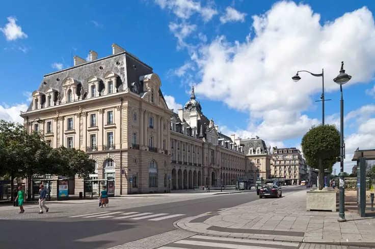 Vue de Rennes pendant Hotel Séminaire