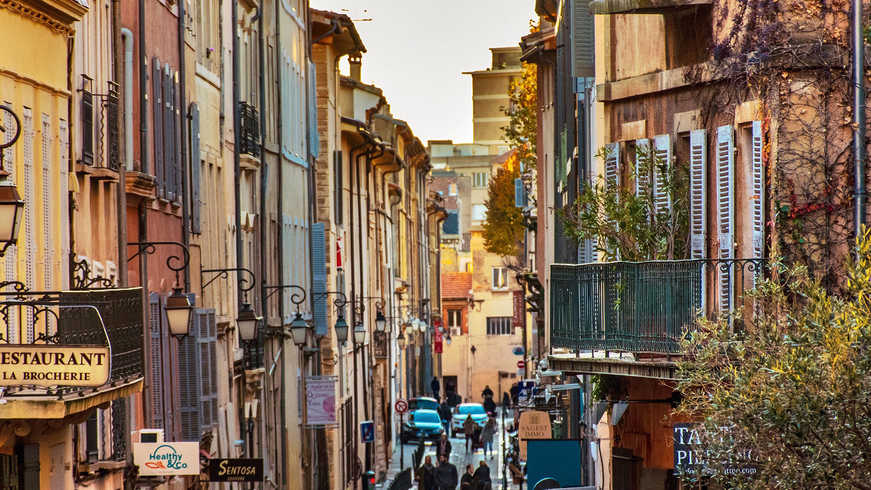 Vue de Aix-en-Provence pendant Hotel Séminaire
