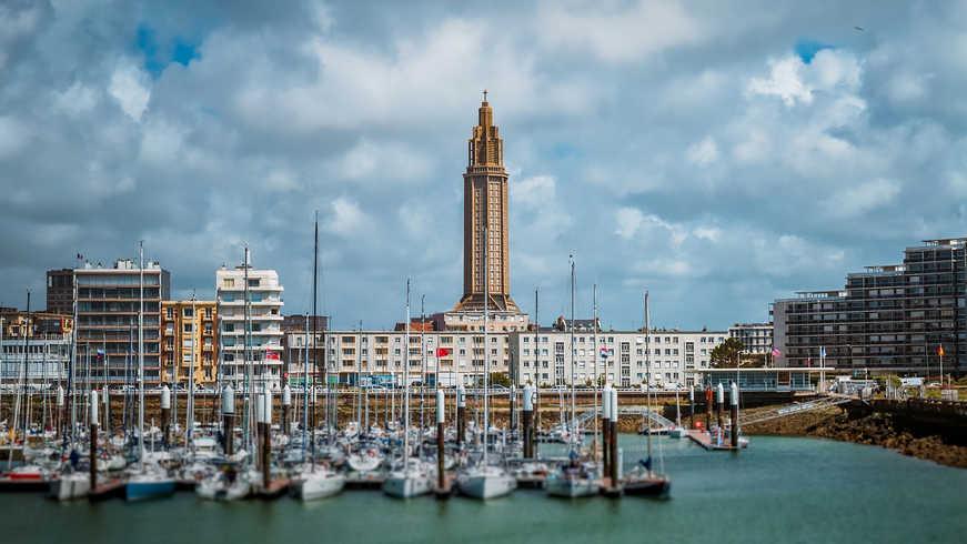 Vue du Havre pendant Hotel Séminaire
