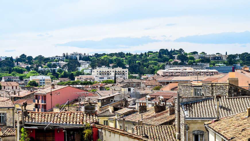 Vue de Nîmes pendant Hotel Séminaire