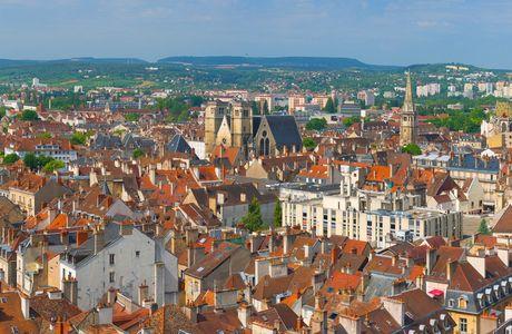 vue du ciel de Dijon