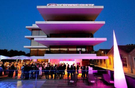 Soirée sur la terrasse de l'hôtel du Crowne Plaza à Montpellier