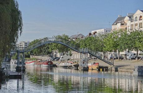 Bord de l'Erdre à Nantes