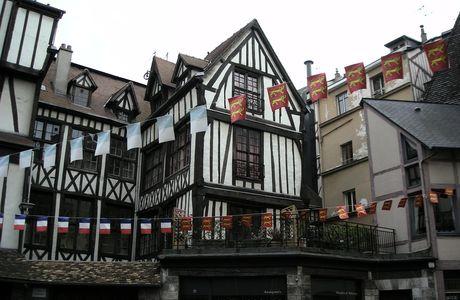 Maison normande typique du centre de Rouen