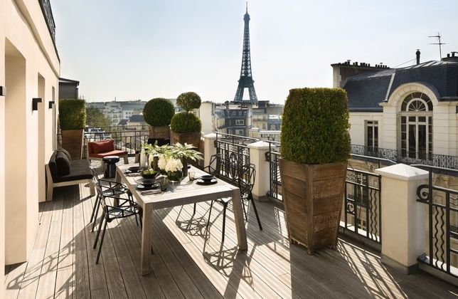 photo terrasse hotel marignan paris