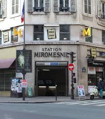 Entrée de la station de métro Miromesnil Paris 8ème