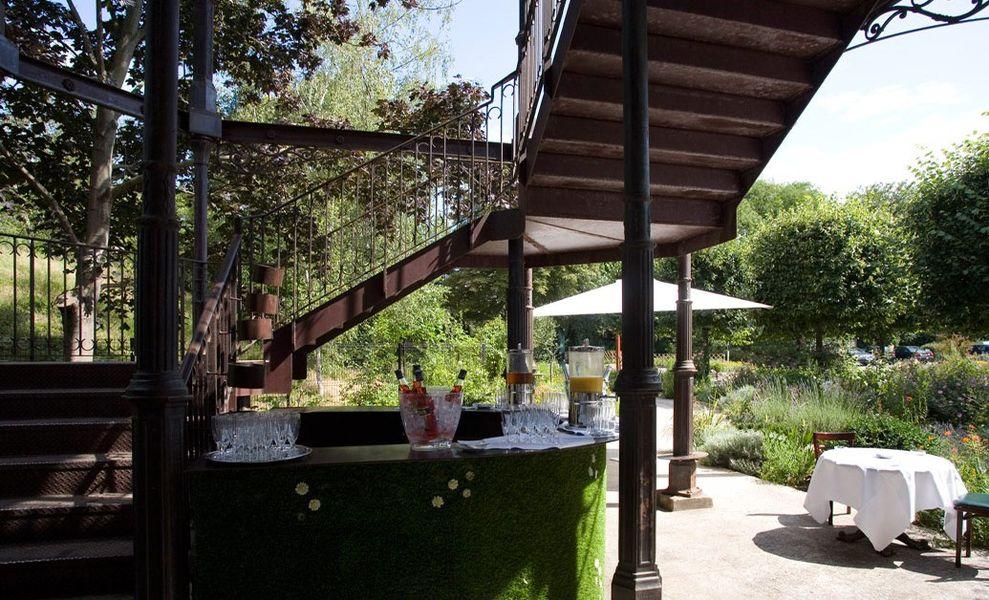 Restaurant l'Île - Cocktail extérieur au Pavillon