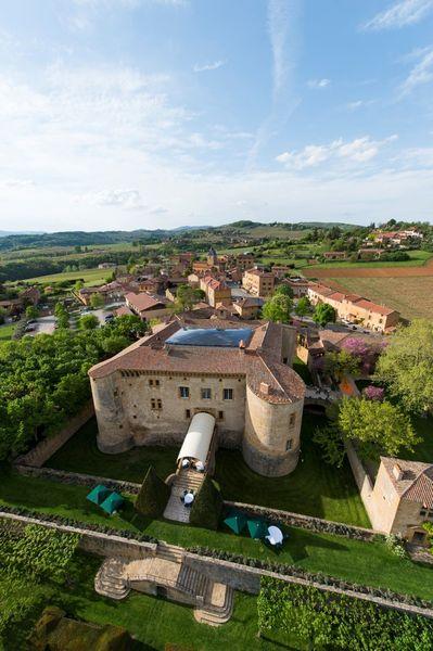 Château de Bagnols - Vue aérienne 2