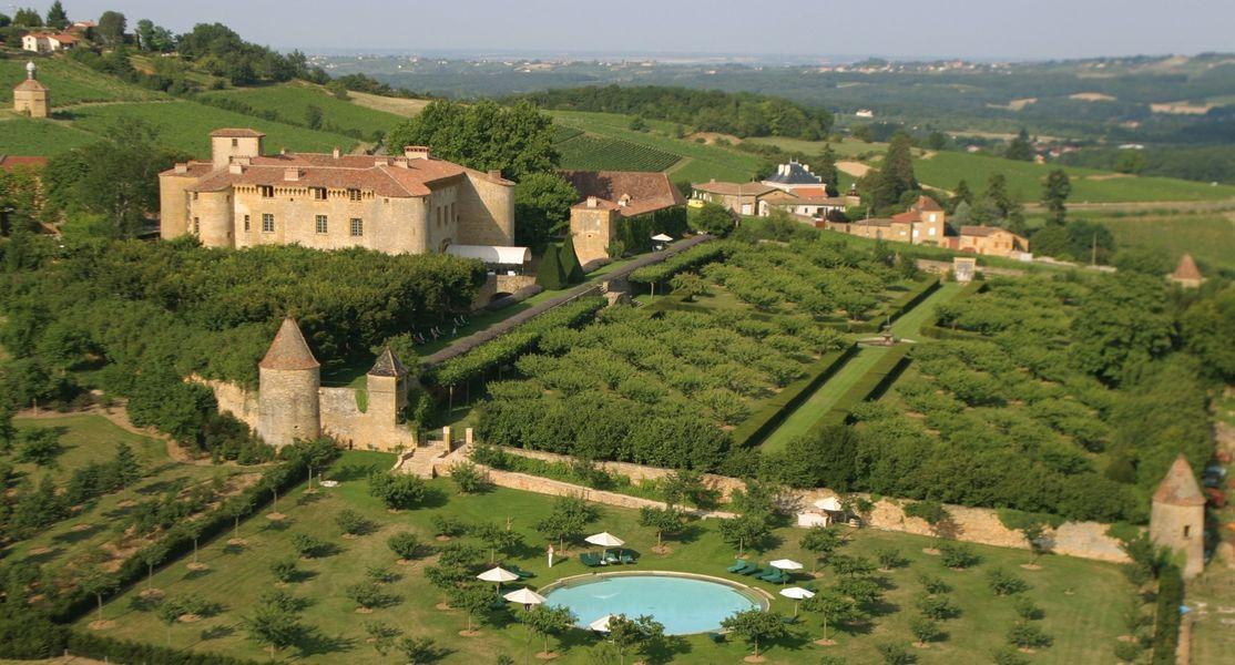 Château de Bagnols - Vue aérienne