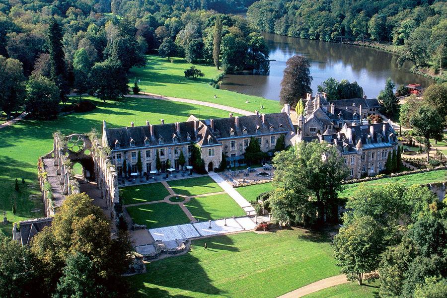 Abbaye de Cernay - Vue aérienne 2