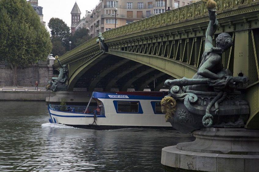Le Coche d'eau - Avant du bateau