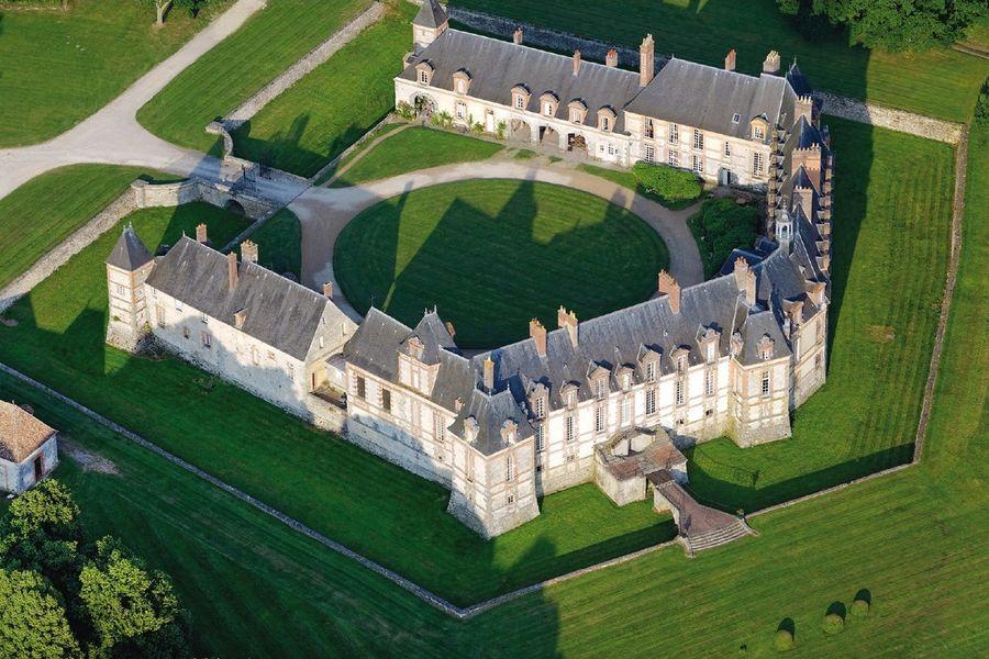 Château de Neuville - Vue aérienne