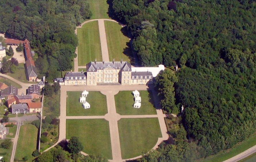 Château de Bertangles - Vue aérienne