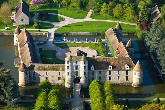 Château de Villiers le Mahieu - Vue aérienne
