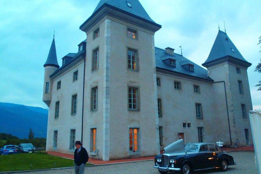Chateau du Montalieu - Limousine devant le château