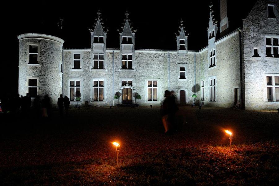 Château de Chéronne - Le château de nuit