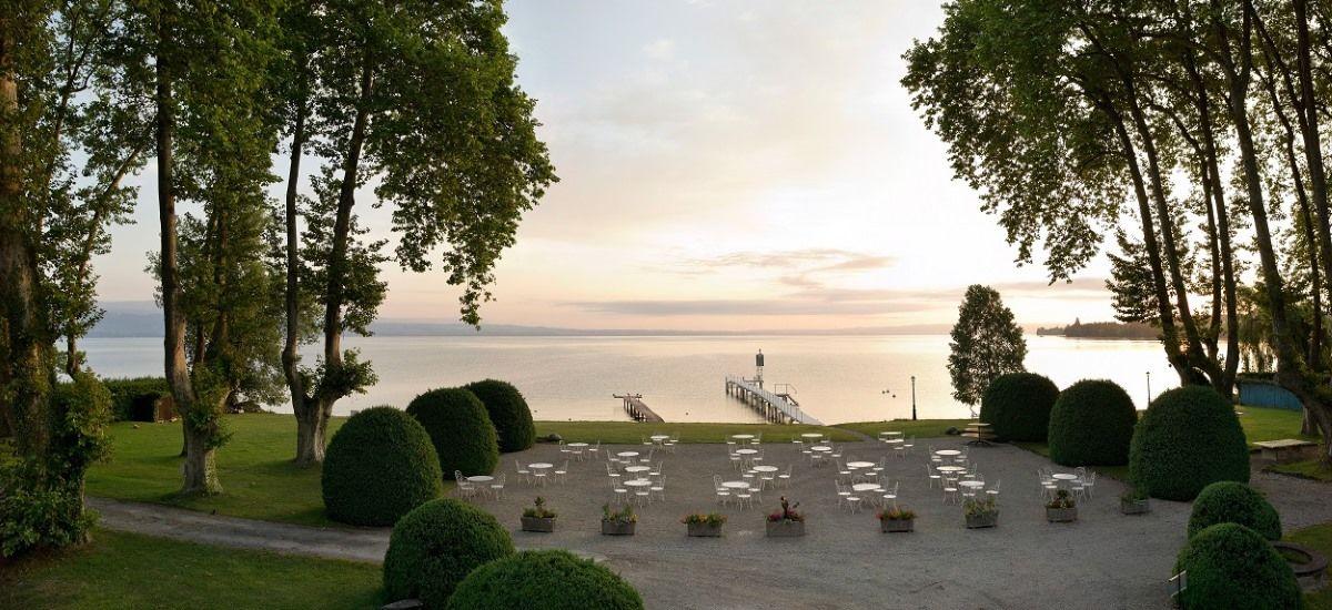Chateau de Coudree - Coucher de soleil sur le Leman