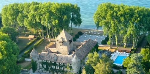 Chateau de Coudree - Vue aérienne du Château de Coudrée