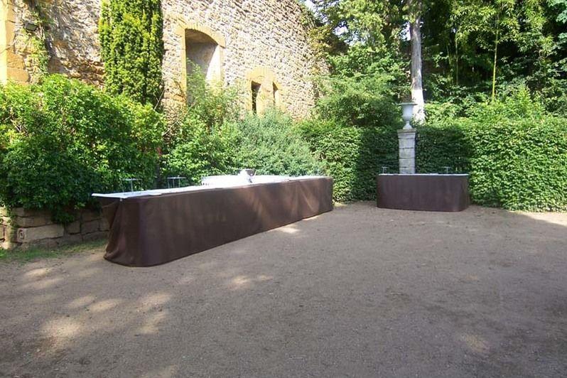 Chateau de Chessy Rhone - Cocktail extérieur