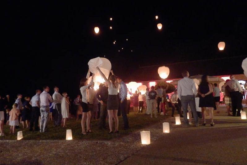 Manoir de Kerhuel - Lâcher de lanternes