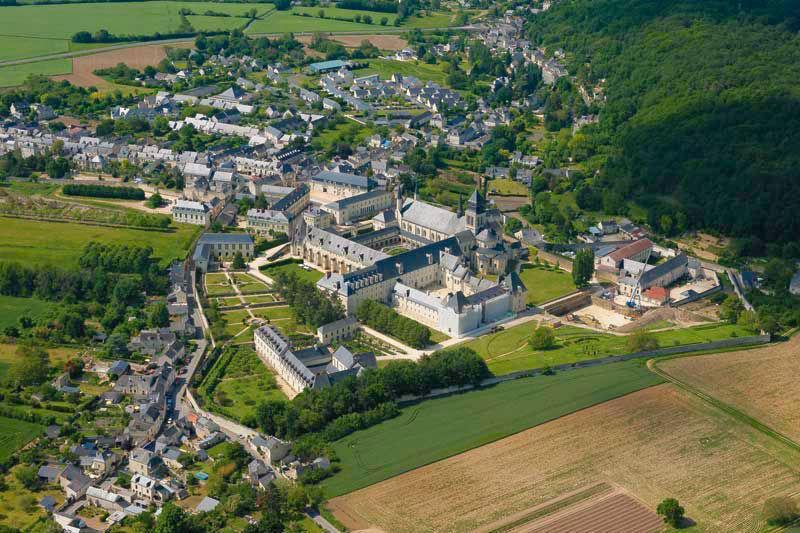 Abbaye Royale de Fontevraud - Vue aérienne