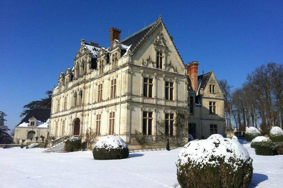 Château de la Bourdaisière - Château sous la neige 1