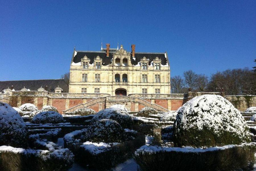 Château de la Bourdaisière - Château sous la neige