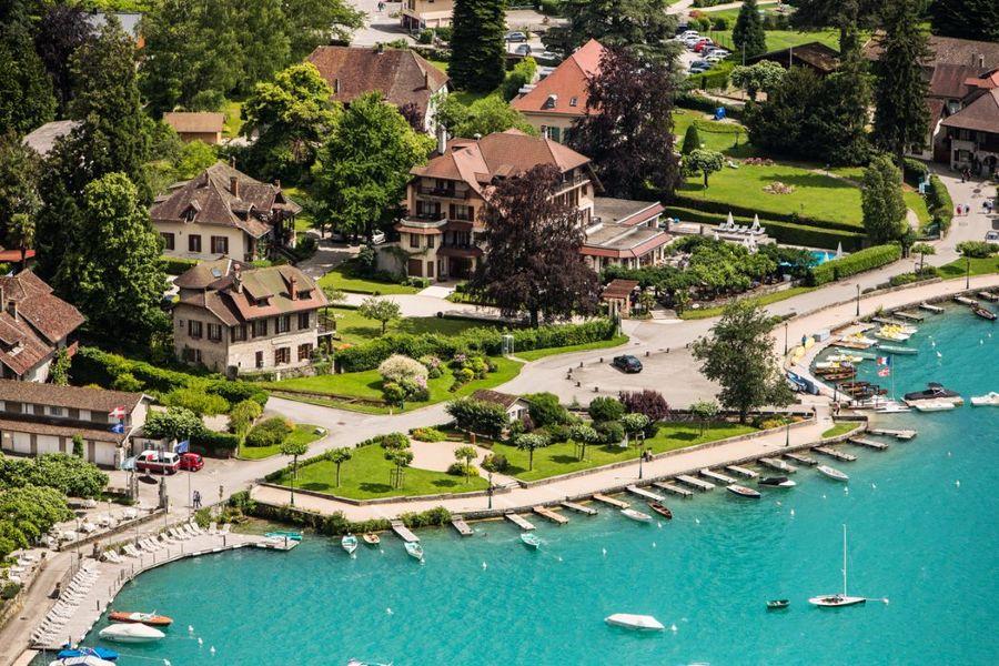 Le Cottage Bise Hotel Spa Talloires - Vue aérienne (3)