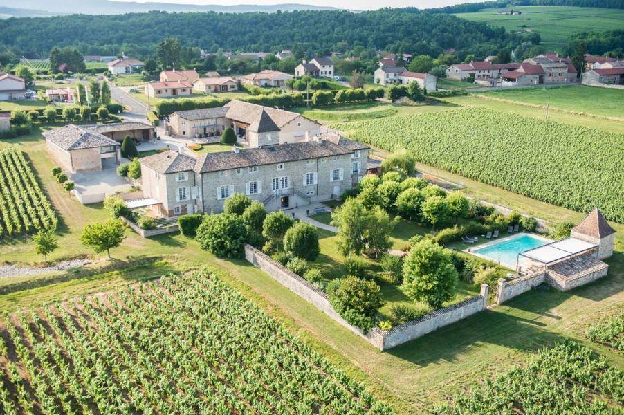 Chateau de Besseuil - Vue aérienne