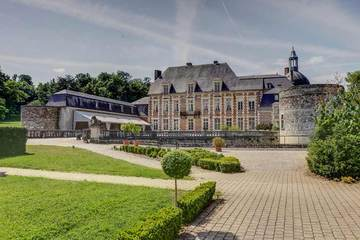 Facade chateau d etoges seminaire Marne