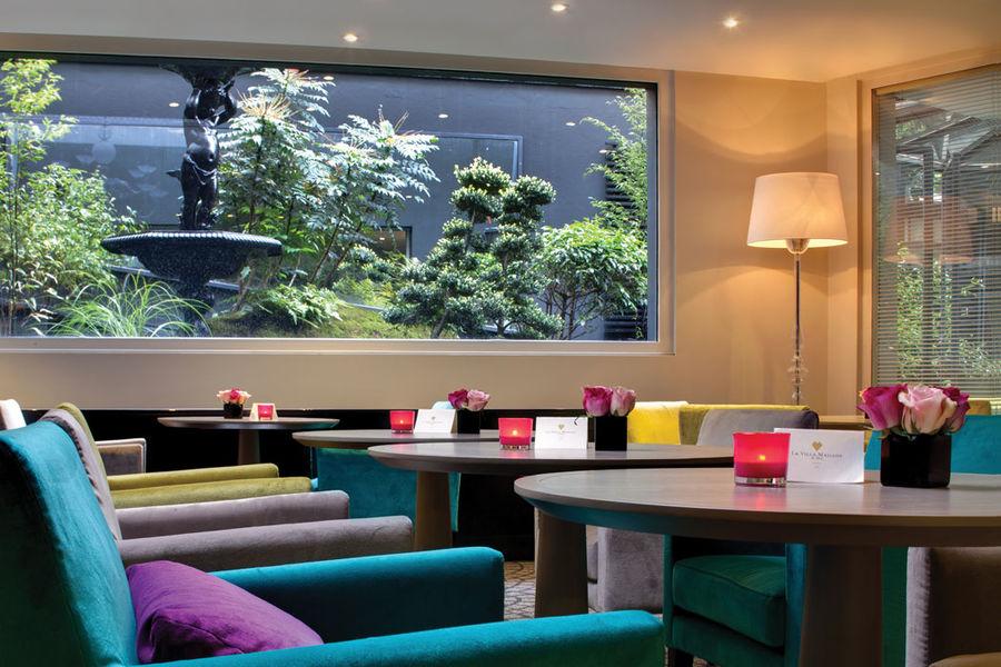 Villa Maillot - Bar avec vue sur le Jardin japonais
