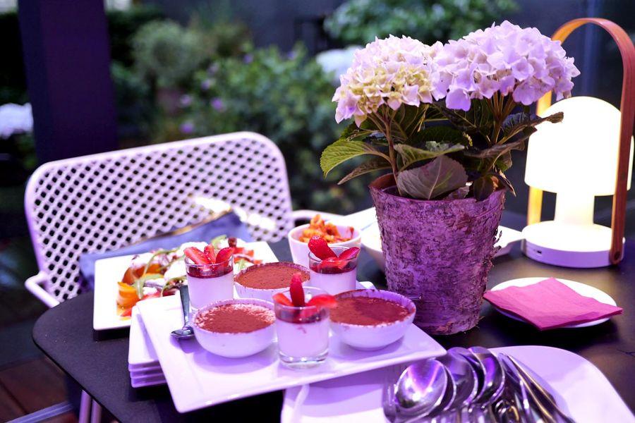 Hôtel & Spa La Belle Juliette - Dessert sur la terrasse