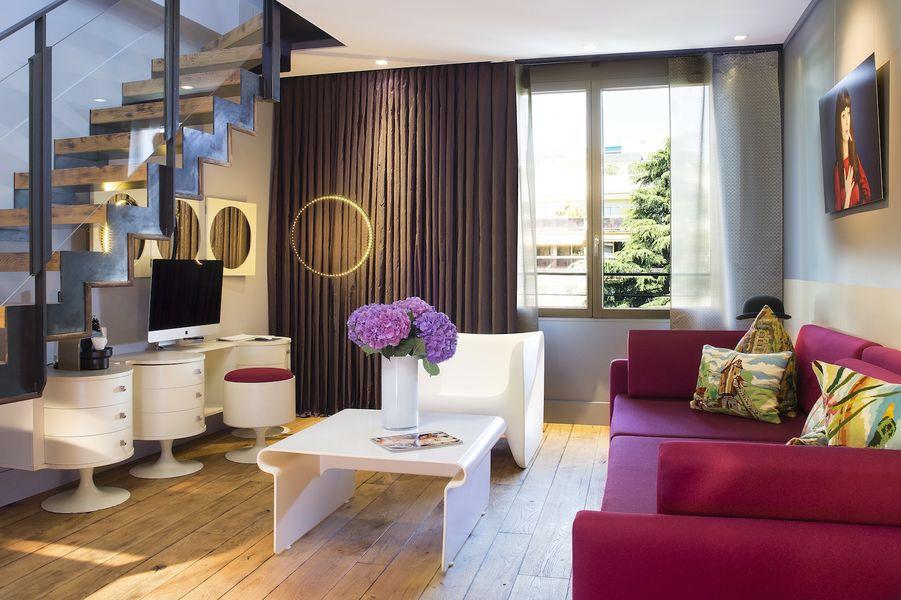 Hôtel & Spa La Belle Juliette - Salon de la suite Duplex