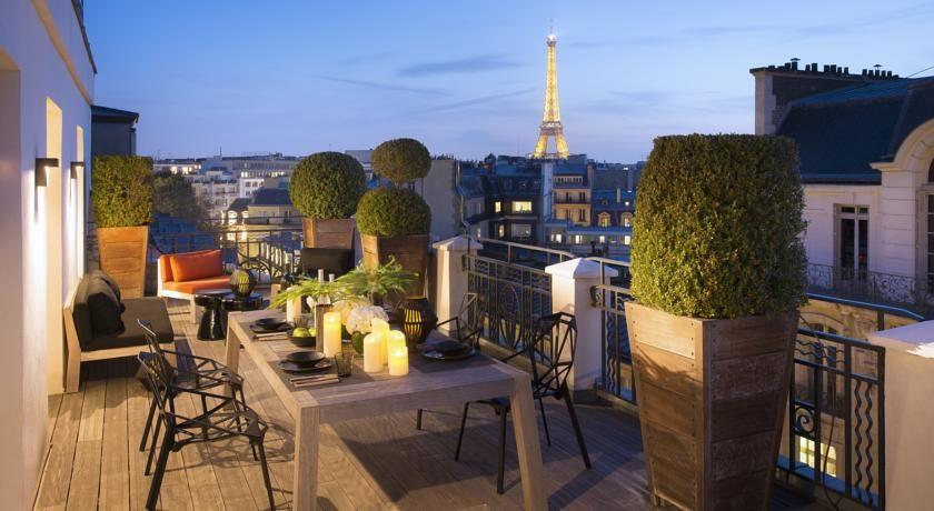 Hotel Marignan Champs-Elysées - Vue de la terrasse 2