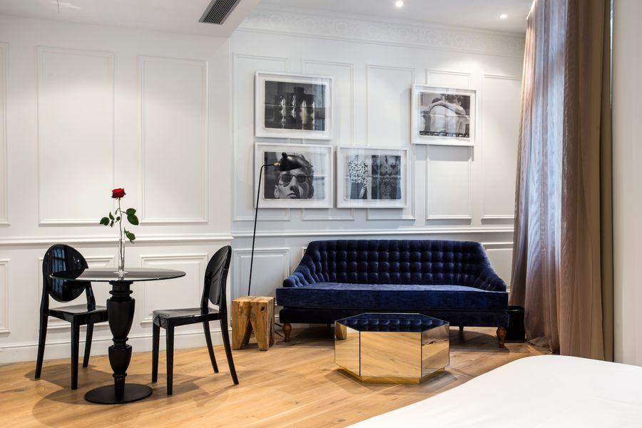Hôtel Banke - Coin salon dans chambre Deluxe