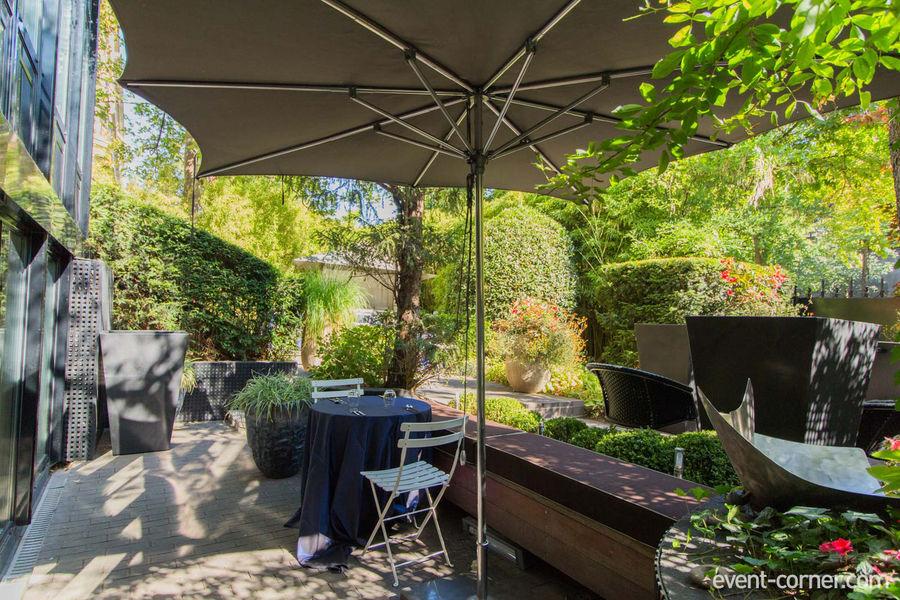 6 Mandel - Jardin depuis entrée cusine