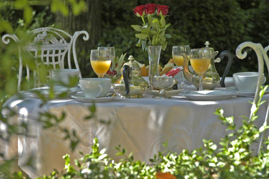 Château d'Arpaillargues - Terrasse - Petit déjeuner