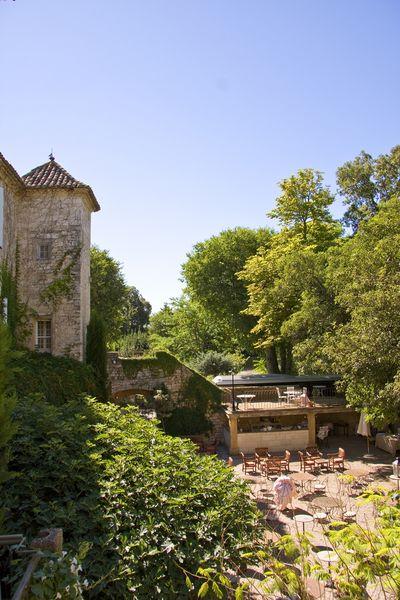 Château d'Arpaillargues - Vue Terrasse